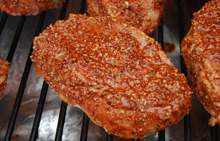 Achiote Rubbed Pork Chops
