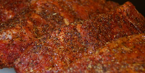 Bullsy Beef Dry Rub on Boneless Beef Chuck Ribs