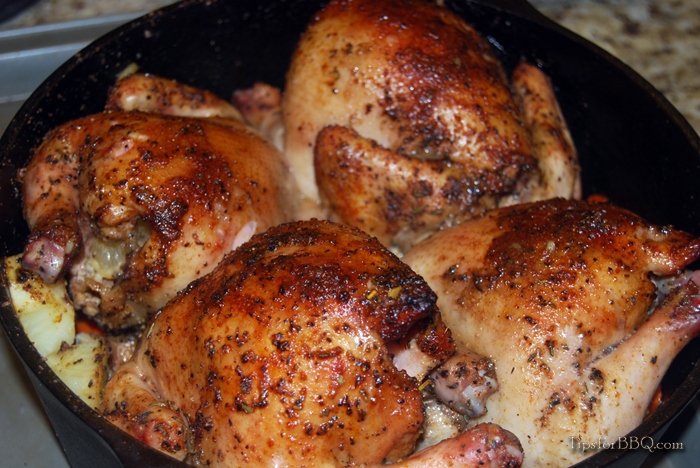 Grilled Cornish Game Hens