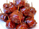 Moink Ball - Barbecued, Bacon-wrapped Meatball Appetizer
