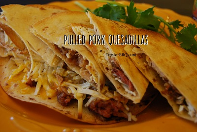 ... course) Grilled Pulled Pork Quesadillas (pictured) Pulled Pork Nachos